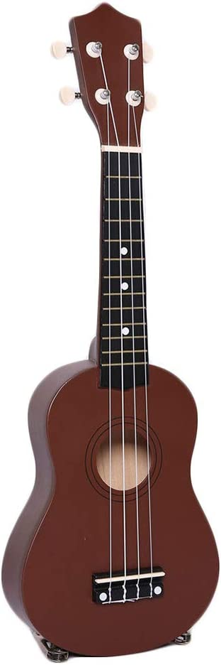 Edge to 21 Pulgadas Guitarra Ukulele Niños Juguetes 4 Cuerdas, Mini Instrumentos Musicales Juguete Educativo de Aprendizaje para niños pequeños bebés Principiante,A