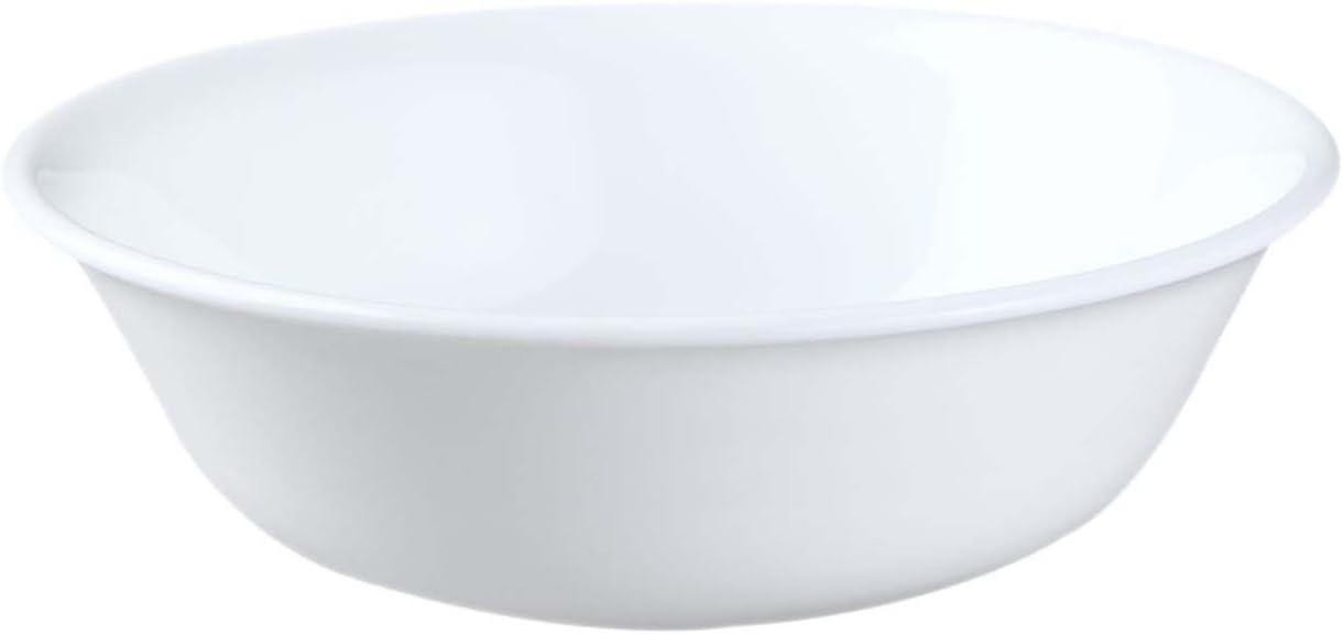 Bianco Ghiaccio Ciotola per Cereali da 18 Once in Vetro Vitrelle Confezione di 6 CORELLE