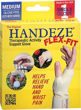 HandEze Flex-Fit Therapeutic Glove Medium, Beige - Each, Pack of 5