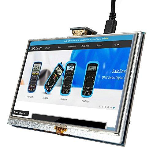 SainSmart 5 inch LCD for Raspberry Pi 3 2 1 Model B+ A+ B 800x480 Touch LCD Screen HDMI Display Module Mini PC by SainSmart (Image #4)