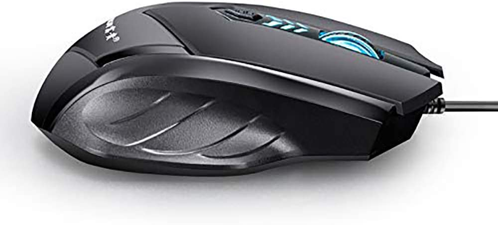 Ergonomic YUEBAOBEI Gaming Wired Mouse Desktop Notebook Universal 4-Segment DPI 6 Key Positions Cool Colorful Breathing Light Effect Built-in Weight