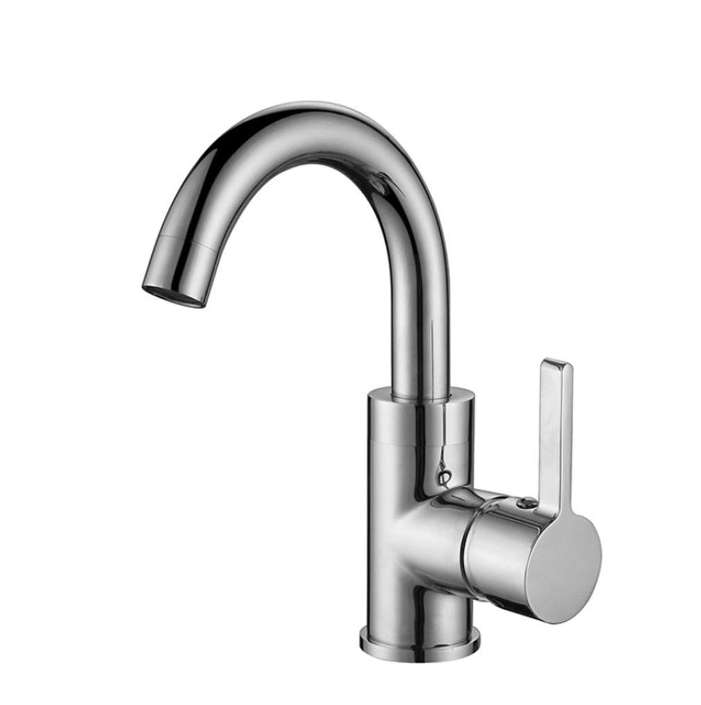 Basin Mixer Tap Bath Fixtures Wash Basinsinkkitchen Chrome Plated All Copper Lead, Refined Copper Main Body Faucet Bathroom Kitchen Full Copper Hot and Cold Water Faucet