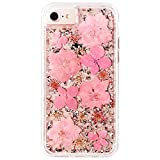 Case-Mate iPhone 8 Case - KARAT PETALS - Made with Real Flowers - Slim Protective Design for Apple iPhone 8 - Pink Petals