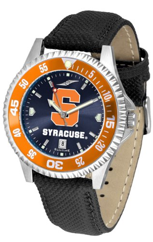 Syracuse Orange Competitor AnoChrome Men's Watch - Color Bezel by SunTime