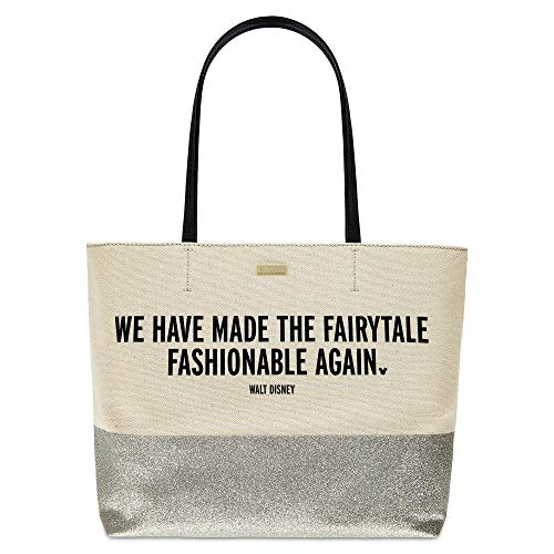 ''We Have Made the Fairytale Fashionable Again'' Canvas Glitter Tote Bag by kate spade new york