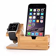 EsportsMJJ Bambou Desktop USB Charging Docking Station Support Stand Pour Apple Watch iPhone Samsung Xiaomi