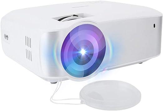 Opinión sobre Ccylez Mini proyector, proyector HD Inteligente 720P, proyector de Cine en casa portátil, pequeño proyector de Video estéreo para Disco HDMI/USB2.0/U, Regalo para niños(Blanco)