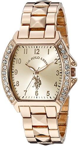 U.S. Polo Assn. Women's USC40074 Rose Gold-Tone Bracelet Watch