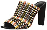Nine West Women's LUCILI Slide Sandal, Black/Multi Leather, 6.5 Medium US