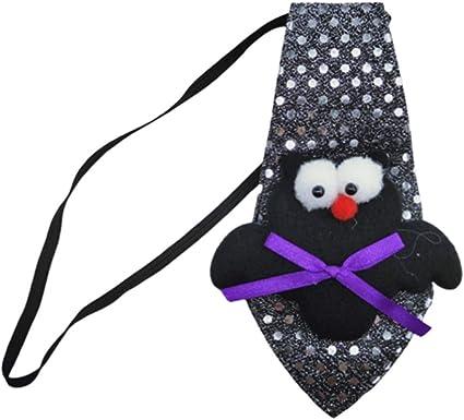 Amosfun Lentejuelas Halloween Corbata Cuello murciélago Corbata ...