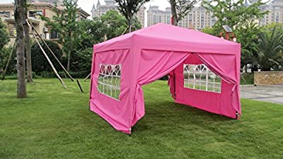10x10 EZ Pop UP Wedding Party Tent Folding Gazebo Camping Canopy W/ Sides