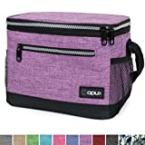 OPUX Premium Lunch Box, Insulated Lunch Bag for Women Adult | Durable School Lunch Pail for Girls, Kids | Soft Leakproof Medium Lunch Cooler Tote for Work Office | Fits 14 Cans (Heather Purple)