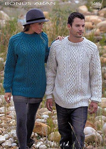 Sirdar Bonus Aran Ladies Mens Knitting Pattern 9465 Amazon