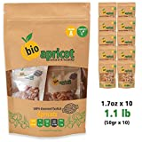 no bake cheese c - BioApricot Diced Dried Apricots - Sun Dried 100% Natural Turkish Fruits l Premium Quality | Certified | No Sugar Added | Non GMO | Raw Vegan Healthy Snack (1.1 lb (1.7 oz x 10 pcs))