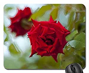 Red roses Mouse Pad, Mousepad (Flowers Mouse Pad, Watercolor style) by mcsharks