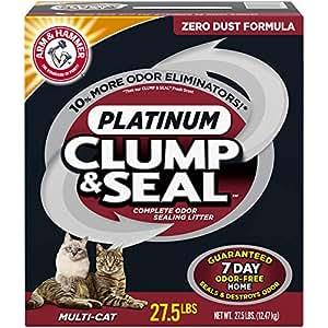 ARM & HAMMER Clump & Seal Platinum Clumping Litter, 27.5lb