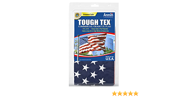 Tough-Tex 4 ft x 6 ft Flag for High Winds Polyester American U.S