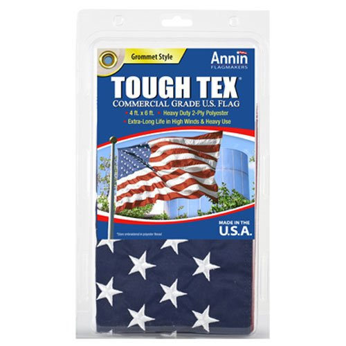 annin flagmakers 182004 4 -Feet x 6 -Feet, Tough Tex US Flag