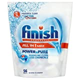 Finish All in One Max Power & Pure Dishwasher Tablets, 56 Tablets