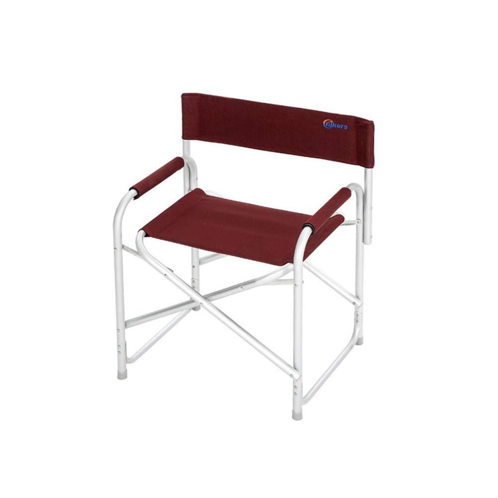 CJC 椅子 アームチェア シート 折りたたみ ポータブル アウトドア キャンプ バックレスト 2 色 (色 : Red)  Red B07HF8M5F2