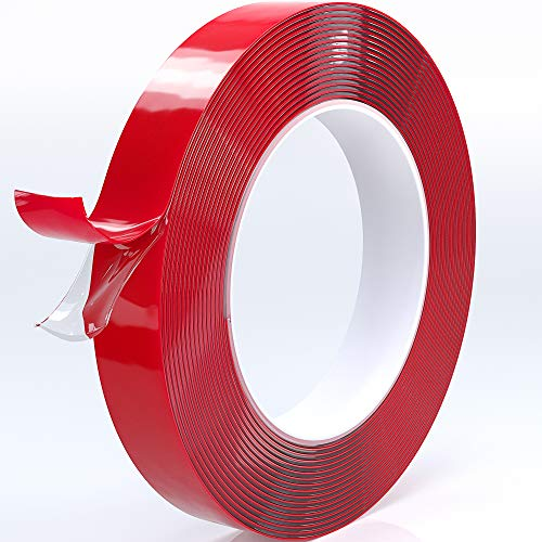 Double Sided Tape Acrylic Waterproof Removable Residue-Free Strong Mounting Tape Multiple Sizes Available for -Wall Mount-Photo Mounting-Outdoor Mounting-Art Mounting-Glass Mounting