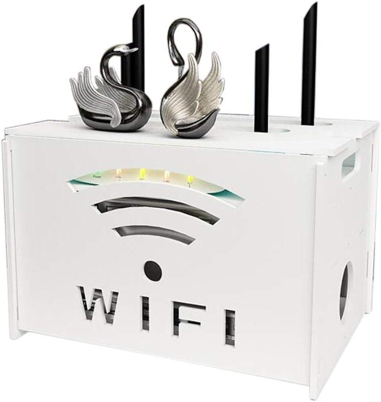 Enchufe del Cable del Router WiFi Caja De Almacenamiento De Alambre Set-Top Box De Televisión Montaje En Pared Estante, Doble Capa (Color : A): Amazon.es: Hogar