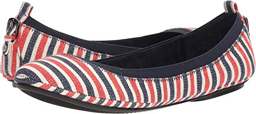 Bandolino Women's Edina Red Multi/Canvas Stripe/Canvas Stripe 6 M US