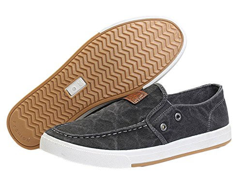 Canvas Dark Gray Mens Shoes Casual King Ma qtp4aA