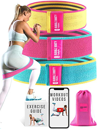 PeoBeo Bubble Booty Bands Resistance Bands for Legs and Butt Fitness Squat Bands Exercise Bands Hip Thigh Glute Bands…