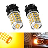 Amber Yellow 3157 LED Bulb, Marsauto 3156 3056 4157 Super Bright 3000 Lumen Turn Signal Blinker Side Marker Back Up Reverse Tail Brake Lights Replacement Bulb