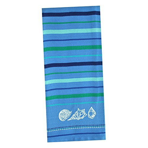 DII Cotton Embroidered Blue Sea Dish Towels, 18 x 28'' Set of 3, Decorative Oversized Kitchen Towels for Everyday Cooking and Baking by DII (Image #4)