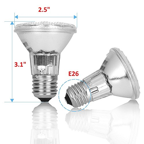 75PAR20/FL 3 Pack Dimmable 130V 75 Watt PAR20 High Output 120V Long Lifetime Halogen Spot Light Bulb-Replace par20 60W 75W Lamp Flood Beam Wide Angle Ceiling Recessed Can Lighting Home Replacement by 12Vmonster (Image #1)