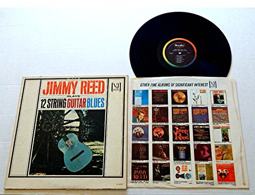 - JIMMY REED PLAYS 12 STRING GUITAR BLUES - Vee-Jay Records 1963 - USED Vinyl Record Album - 1963 Monarch MR Pressing - MONO -Bright Lights Big City Blue Carniege Baby What You Want Me To Do