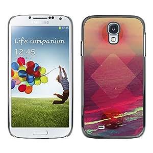 Be Good Phone Accessory // Dura Cáscara cubierta Protectora Caso Carcasa Funda de Protección para Samsung Galaxy S4 I9500 // sunset abstract polygon vibrant sun