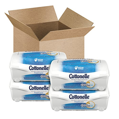 Price comparison product image Cottonelle Fresh Care Flushable Cleansing Cloths Refillable Tub ,42 Count (Pack of 4)