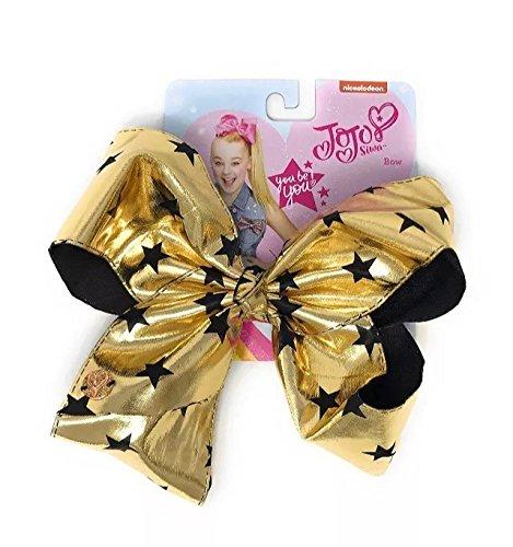 Nickelodeon Jojo Siwa Signature Bow (Gold and Black Stars)