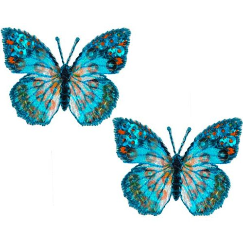 Expo MBP102BL Embroidered Butterfly Applique