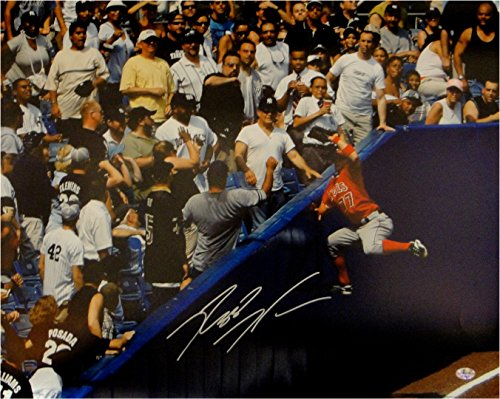 Reggie Willits Hand Signed Autographed 16x20 Photo Angels Dive into Stands - Mlb 16x20 Signed Hand Photograph