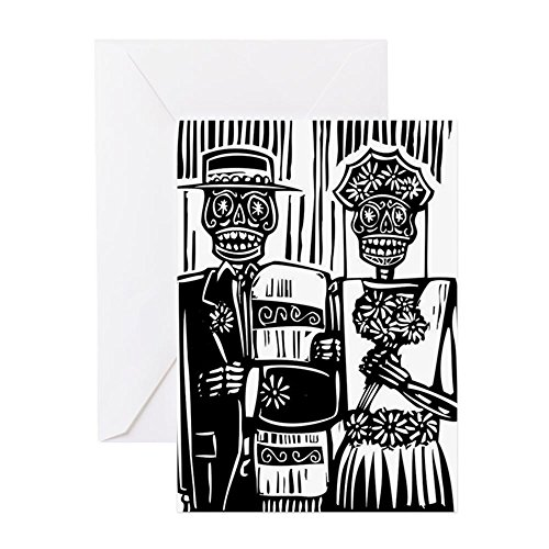 CafePress - Day Of The Dead Wedding - Greeting Card, Note Card, Birthday Card, Blank Inside Glossy