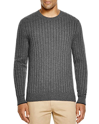 Bloomingdales Cashmere - The Men's Store at Bloomingdale's Cashmere Ribbed Sweater Ash Size L