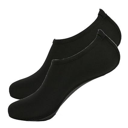 Verano playa buceo deporte calcetines Zapatillas sandalias calzado descalzo zapatos de piel, negro