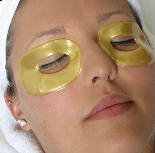 10 Маски / 5 пар Коллаген 24K Gold Eye Mask Патчи лист Anti Aging уменьшить морщины, темные круги Сумки Чехлы Отечность Цвет глаз Увлажняющий Увлажняющий Отбеливание Uplifting Tone прочнее Smooth Skin Regeneration Нефть управления Пятна Концентрический