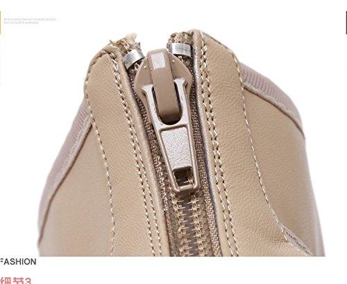 Mode mit hochhackige schuhe mit Mode hohen absätzen lederschuhe stahl - stiefel 2a1402