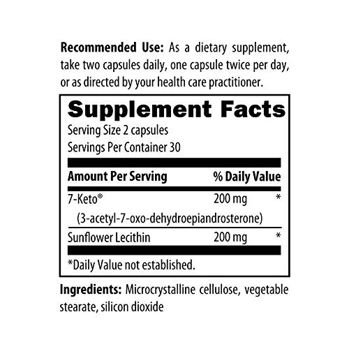 Designs for Health - 7-Keto with 3-Acetyl-7-Oxo DHEA, 60 Vegetarian Capsules