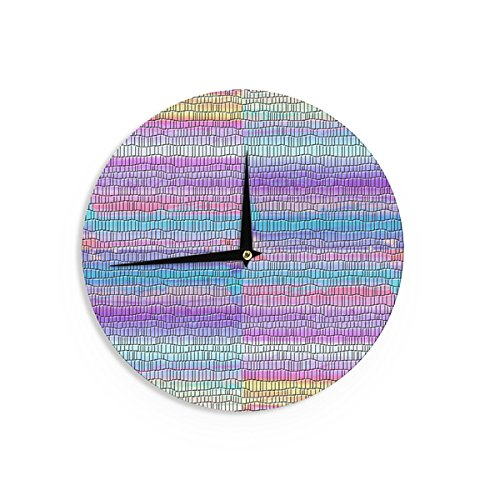Vasare Nar 'Pillow Kaleidoscope ' Purple Orange Wall Clock by Generic