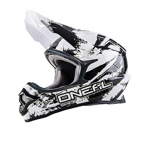 O'neal 3 Series Motocross Enduro MTB Helm Shocker weiß/schwarz 2016 Oneal: Größe: M (57-58cm)