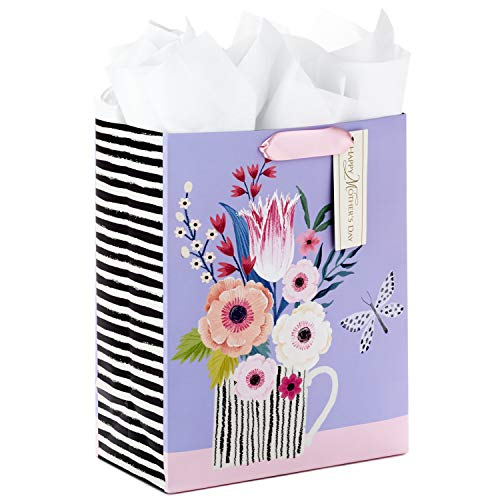 Hallmark Large Mother's Day Gift Bag with Tissue Paper (Butterfly Bouquet)