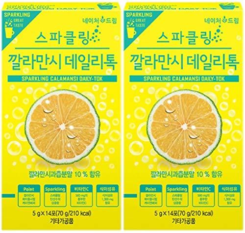 Lemon Detox Diet - 2Pack Calamansi Sparkling Juice Extract Powder Detox Vitamin C Dietary Fiber 14 sticks