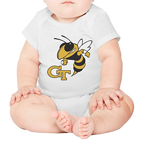 BoLiWang Infant Georgia_Tech_Yellow Jackets_Team Primary_Logo Cotton Baby Onesie Baby Outfits