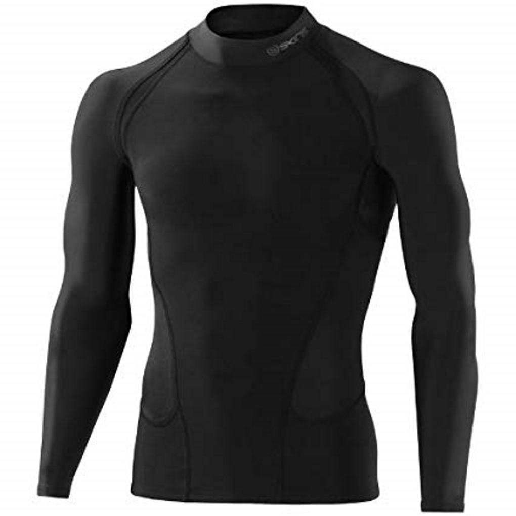 SKINS スキンズ G400 Thermal Long Sleeve Top with mock neck Black サーマル ロングスリーブ モックネック トップ 黒 [並行輸入品] M  B07FKN1TSQ